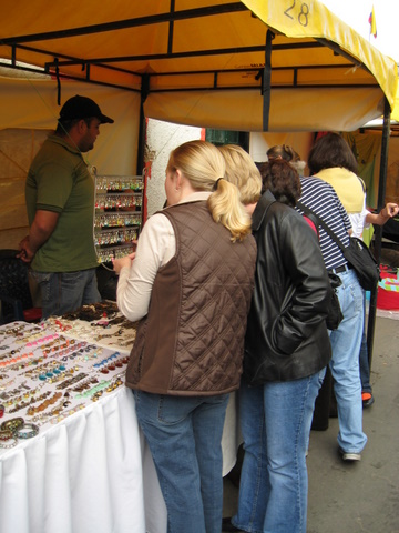 Shopping for artesanias in a local Sunday market
