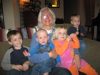 Jackson with Mia and Hick's cousins